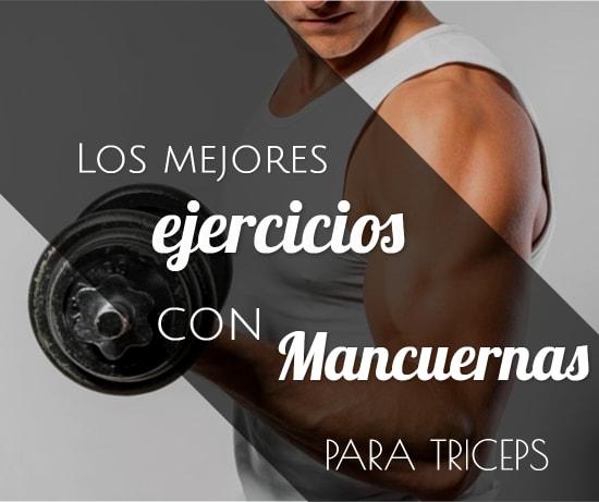 Mejores ejercicios con mancuernas para triceps